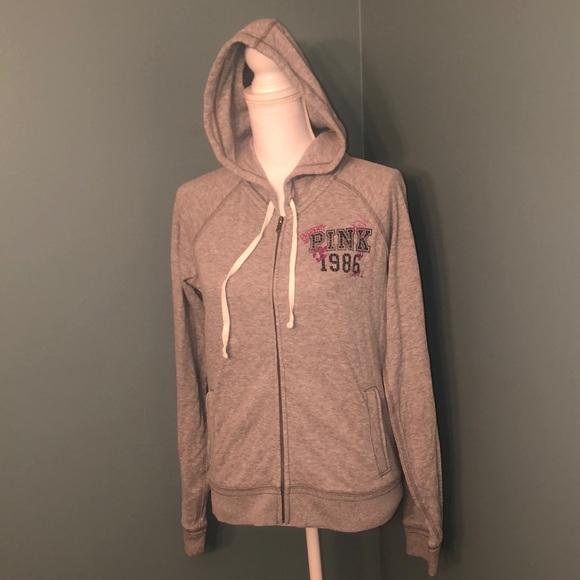 5ddbdcdac Women's size large VS Pink full zip hoodie! M_5c41844faa87709cdb2a37ea